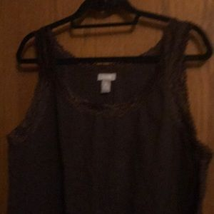 Chico's Tops - Chicos lace trimmed tank top.